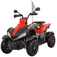 Детский железный квадроцикл M 3221 E-3, мягкие колеса EVA, красный
