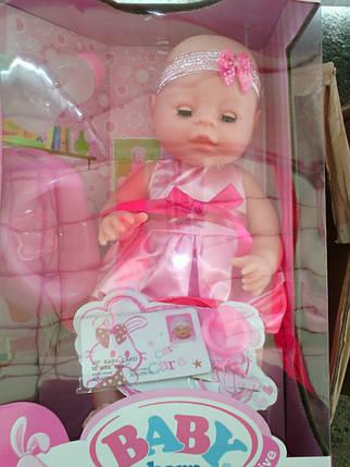 Пупс Беби Борн BB35661 (аналог Baby Born) 35 см. 6 функций, фото 2