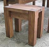 Скамья без спинки 2м. Мебель садовая из натурального дерева  Альфа, фото 6
