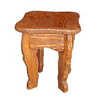 Табурет деревянный под старину БАРОН для дома, бани, ресторана и бара