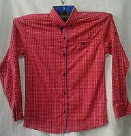 Рубашка подросток  для мальчиков 6-10 лет,красная