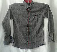 Рубашка подросток  для мальчиков 6-10 лет,серая