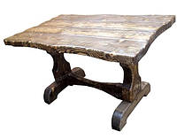 Стол деревянный под старину БОГАТЫРЬ для дома, сауны, ресторана, бара