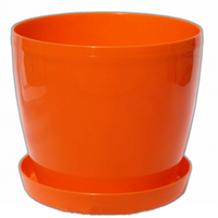 Кашпо Магнолия с подставкой 135мм Оранжевый
