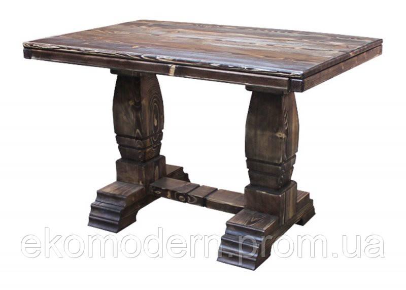 Стол деревянный под старину ВИКИНГ для дома, сауны, ресторана и паба