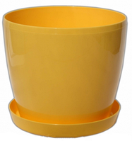 Кашпо Магнолия с подставкой 135мм Жёлтый