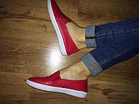 Красные женские мокасины ЭКО кожа , фото 1
