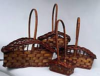 Набор из 4х плетеных корзин коричневые