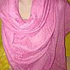 Шарф жатка сиреневого цвета в разноцветный горошек