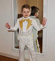 Детский белый костюм с фраком
