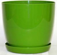Кашпо Магнолия с подставкой 155*137мм, 2л Зеленый