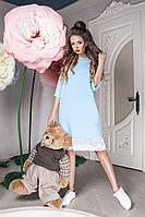 Женское весеннее платье с гипюровой окантовкой