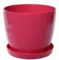 Кашпо Магнолия с подставкой 155*137мм, 2л Розовый