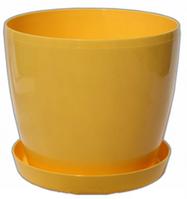 Кашпо Магнолия с подставкой 155*137мм, 2л Жёлтый