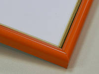 РАМКА А4 (297х210).14 мм.Оранжевый с золотой окантовкой.