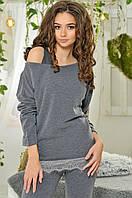 Женский костюм тройка свитер+майка+лосины