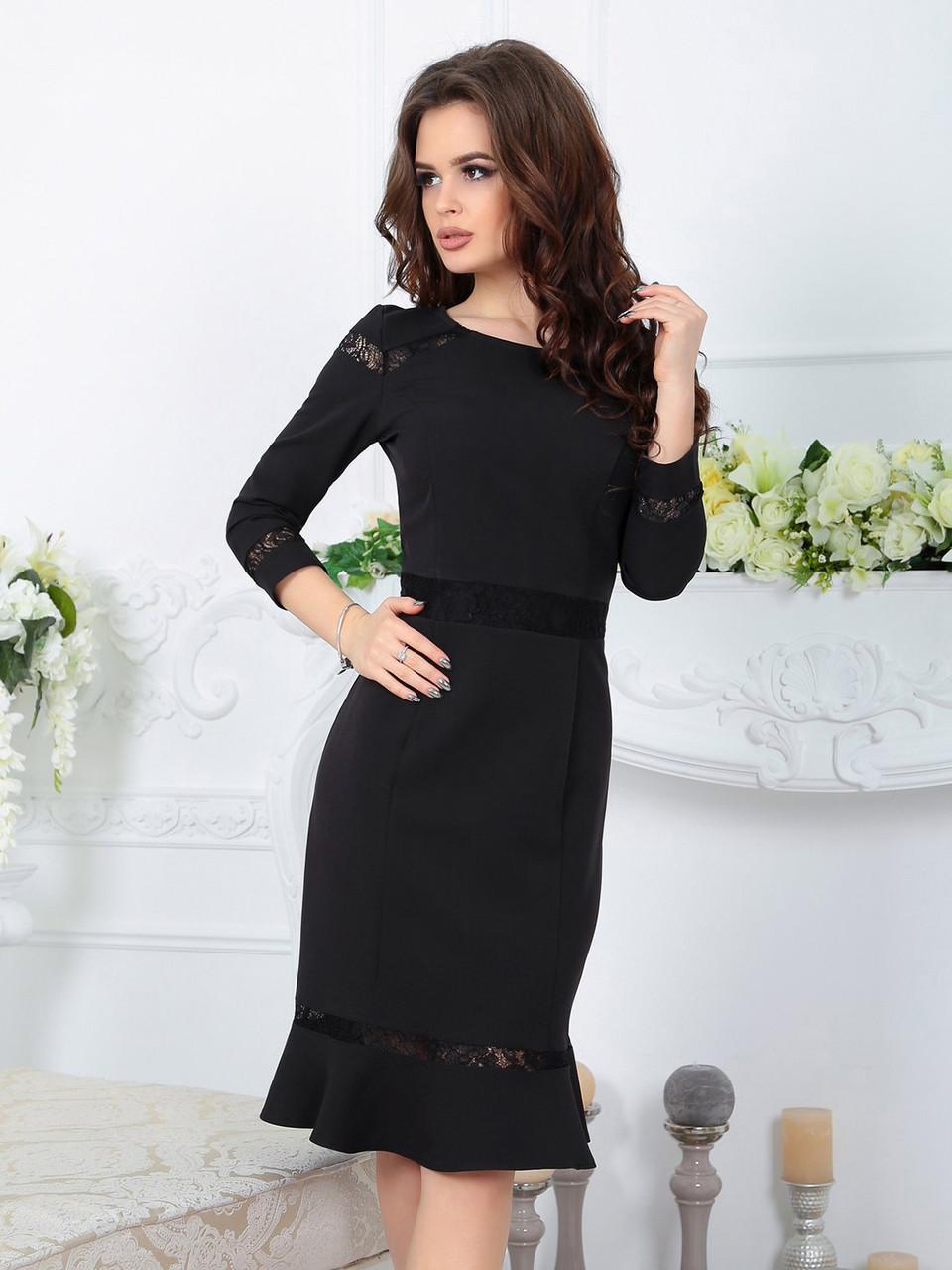 Платье Лиана черное