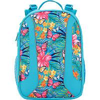 Рюкзак школьный девочке каркасный (ранец) 703 Tropical flower K17-703M-2 Kite