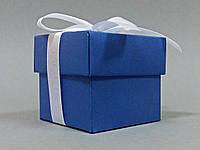 Бонбоньерка коробочка с крышечкой синяя