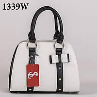 Очаровательная белая женская сумка black/white art. 1339wn3