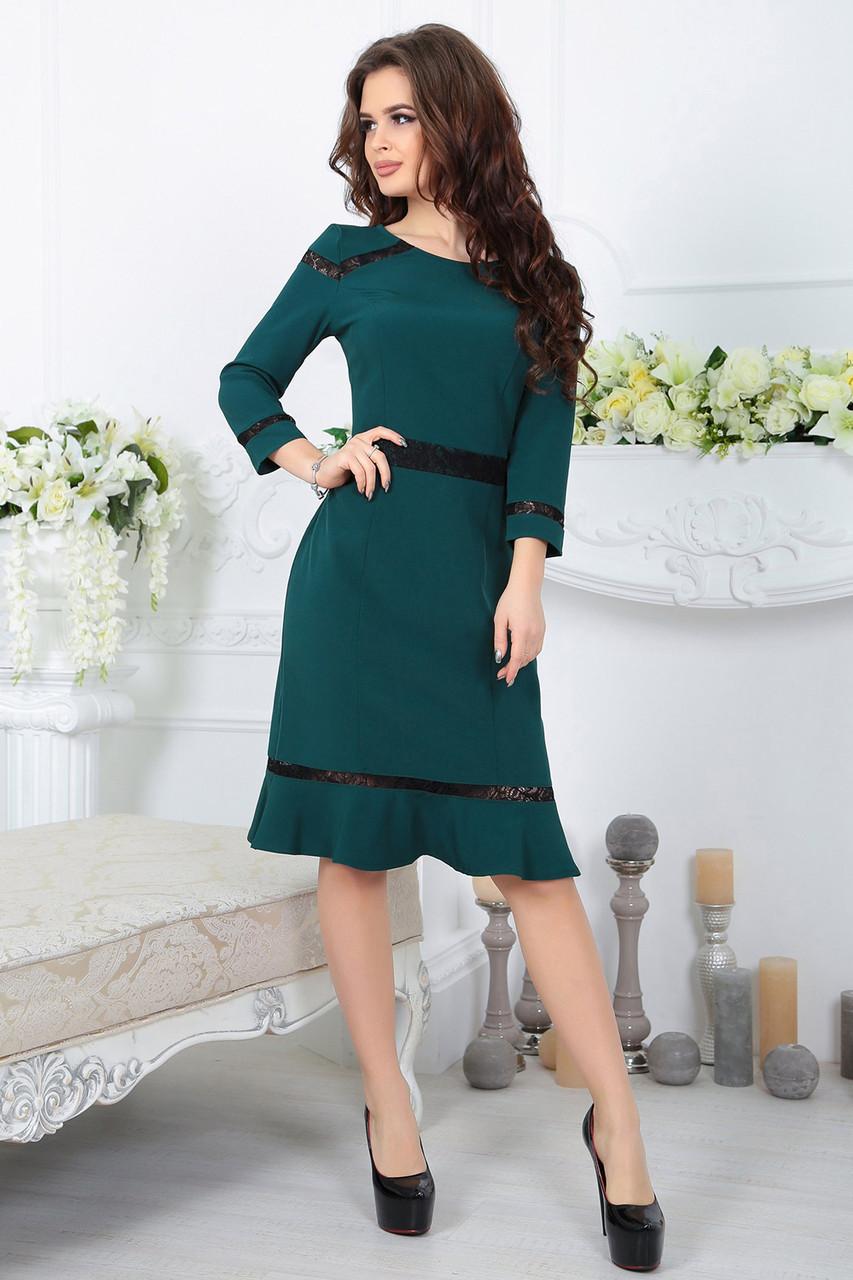 Платье Лиана зеленое