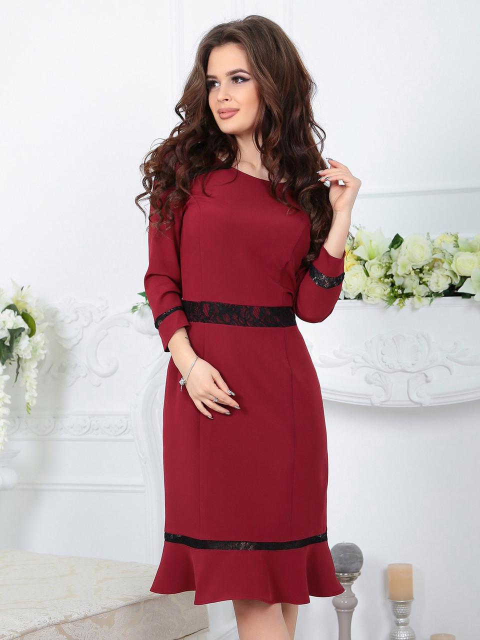 Платье Лиана марсала
