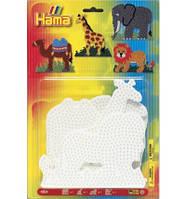 Набор полей для Midi - слон, жираф, лев, верблюд, Hama, фото 1