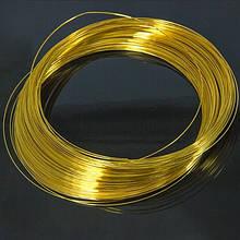 Проволка c Памятью 0.6х115мм, Стальная, для Ожерелий, Цвет: Золото, Диаметр: 11.5см, Толщина 0.6мм, (УТ100005516)