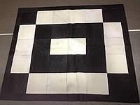 Ковер (cow) Деграде бел-черн квадрат
