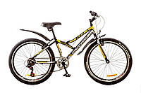 """Велосипед 24"""" DISCOVERY FLINT 2017 (черно-бело-желтый)"""