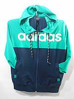 """Костюм спортивный мужской Adidas яркий с капюшоном Серии """" POWER """" размеры 48-56, 3 цвета"""