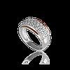 Серебряное кольцо ДЮНА 925 пробы с накладками золота 375 пробы.Серебряное кольцо с золотой пластиной