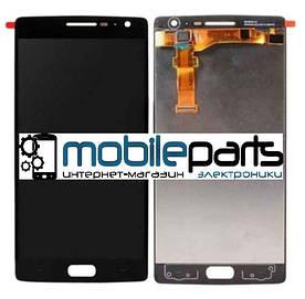 Оригинальный Дисплей (Модуль) + Сенсор (Тачскрин) для OnePlus Two | A0002 (Черный) + Скотч!