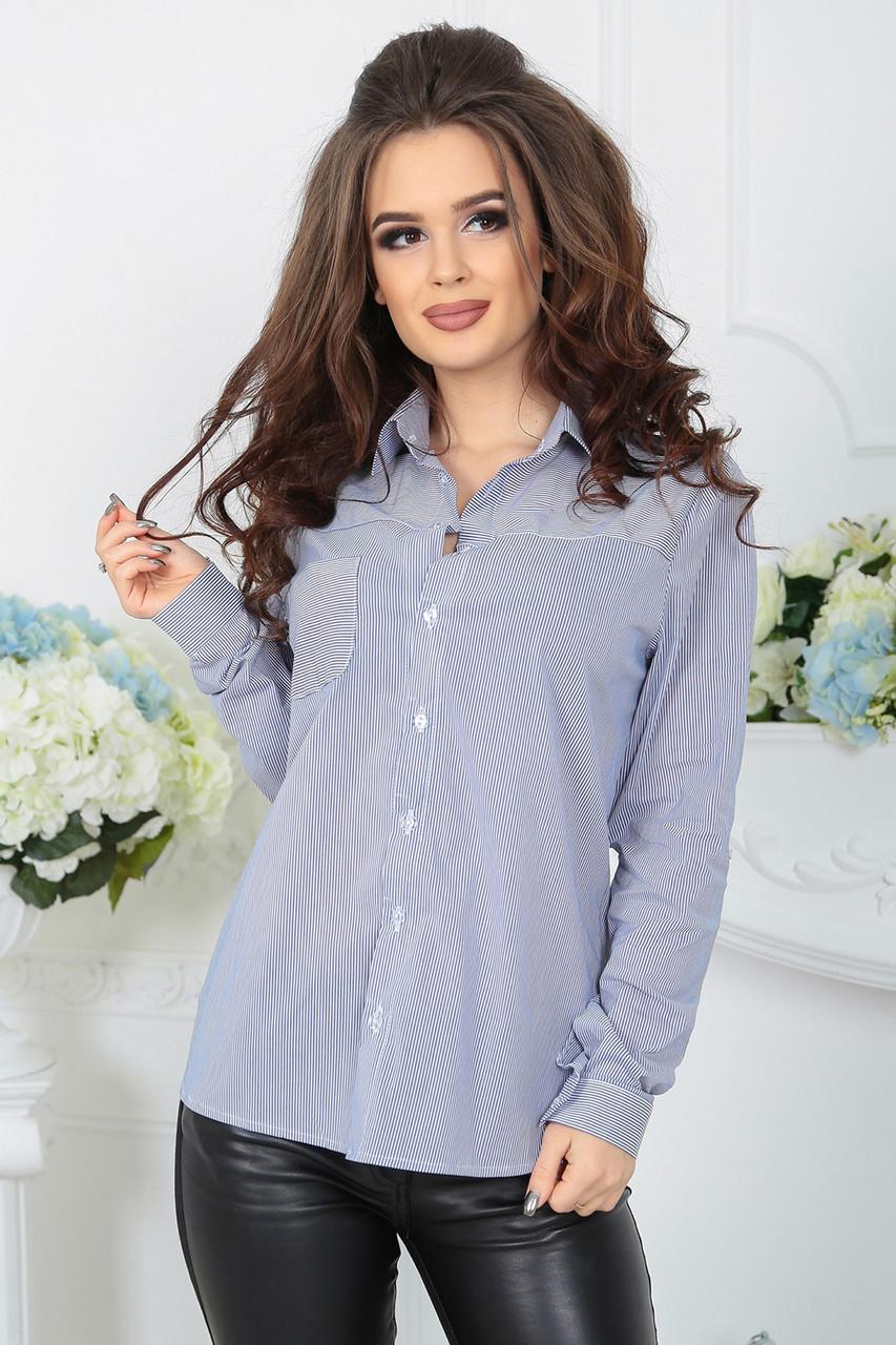 Рубашка Луиза синяя полоска