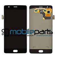 Оригинальный Дисплей (Модуль) + Сенсор (Тачскрин) для OnePlus Three | A3000 (Черный) + Скотч!