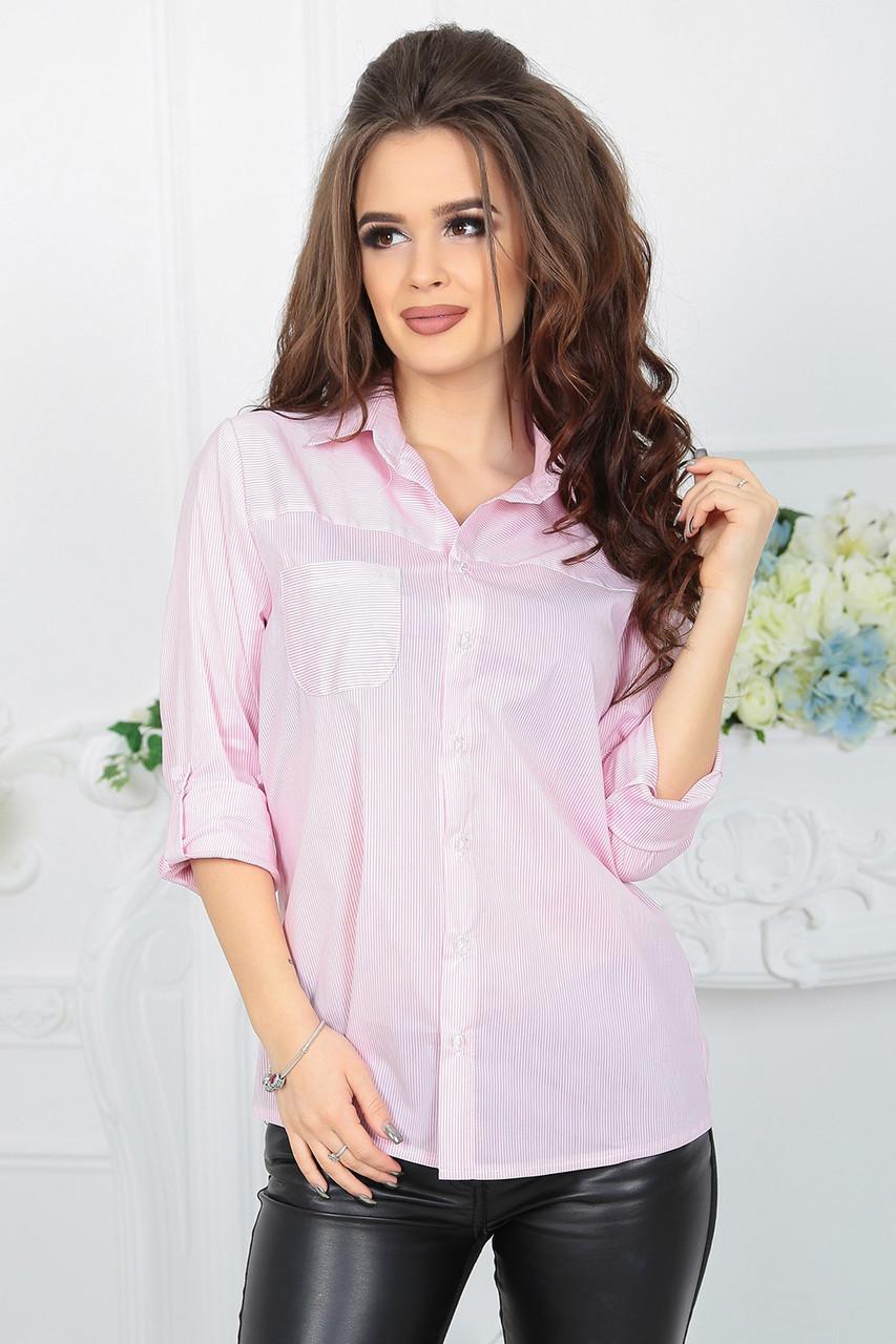 Рубашка Луиза розовая полоска