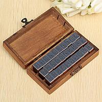 Высококачественные штампы для декора,скрапбукинга, алфавит, в деревянной коробке. 30 штук, фото 1