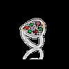 Кольцо из серебра с золотой пластиной АПРЕЛЬ.Серебро со вставками золота.Серебро с золотом