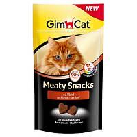 GimCat Meaty Snacks mit Rind лакомство - снеки для кошек с говядиной, 35г