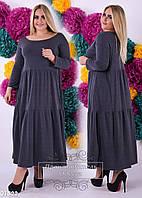 Платье в пол батал 01522