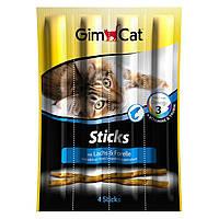 GimCat Sticks with Salmon and Trout мясные палочки для кошек с лососем и форелью, 4шт