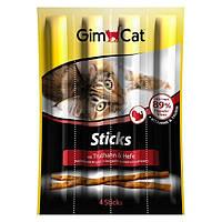 GimCat Sticks with Turkey and Yeast мясные палочки для кошек с индейкой и дрожжами, 4шт