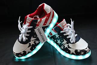 """LED кроссовки """"Америка"""", фото 2"""