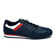 Модные кроссовки мужские темно-синие кожзам Sayota  41, Китай