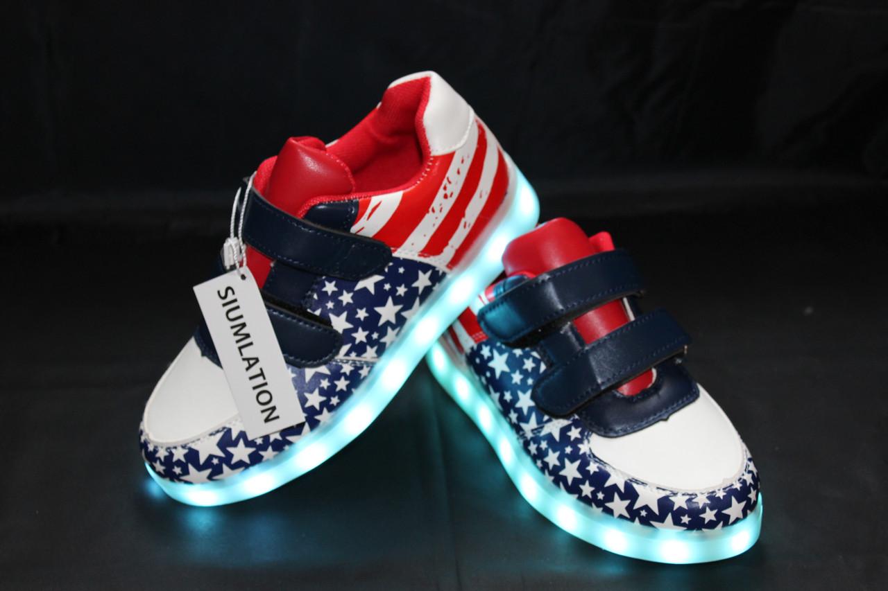 a8bee777 ... Детские LED кроссовки светящиеся American kids