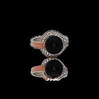 Красивое серебряное кольцо АЛЬМА 925 пробы с накладками золота 375 пробы.Серебряное кольцо с золотой пластиной
