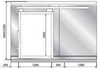 Дверной блок POLAIR (ПОЛАИР) с откатной дверью 80/100 мм 1437*2000