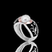 Кольцо из серебра с золотой пластиной АНТОНИНА.Золото с серебром.Серебро с золотыми накладками.
