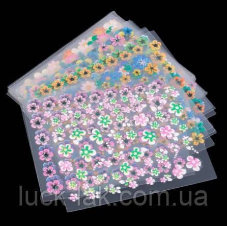 3D наклейки для дизайна, цветочки