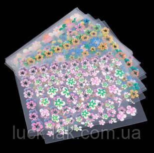3D наклейки для дизайну, квіточки